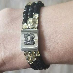 NEW! Silver Rhinestone Heart Bracelet